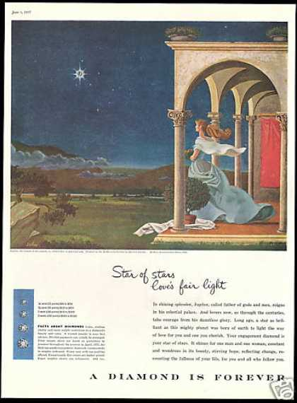 Constellation Lyra Saslow Art Debeers Diamond (1956)