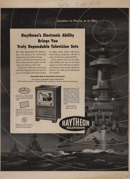 Raytheon Manufacturing Company's Television – Raytheon's Electronic Ability Brings You Truly Dependable Television Sets (1950)