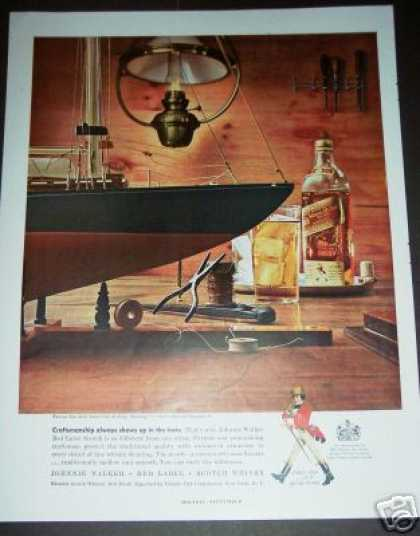 Original Johnnie Walker Red Sloop Ship Model (1958)
