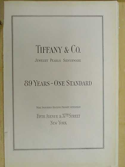 Tiffany and Co 89 years one standard (1926)