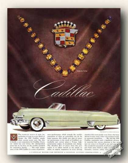 Cadillac Convertible Jewels By Cartier Car Promo (1949)