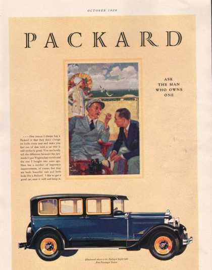 Packard Eight 626 Blue Car (1928)