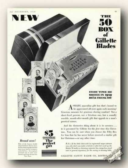 The 50 Box of Gillette Blades (1928)