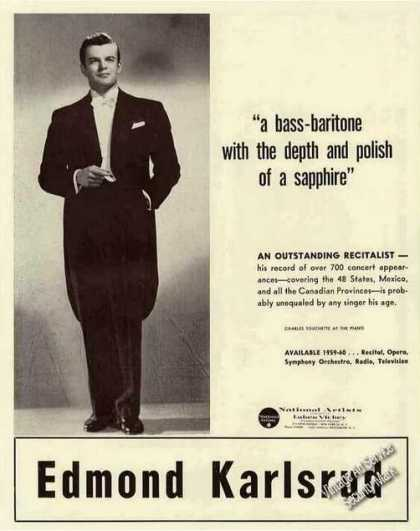 Edmond Karlsrud Photo Bass-baritone Booking (1959)