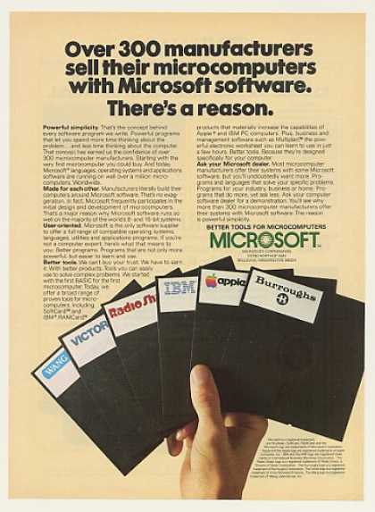 Microsoft Software Wang Victor IBM Apple Disks (1983)