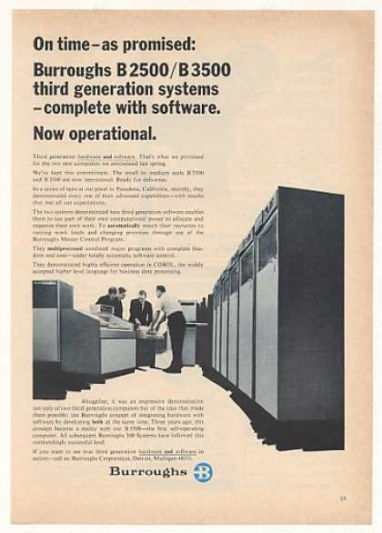 Burroughs B 2500 B 3500 Computer System (1967)