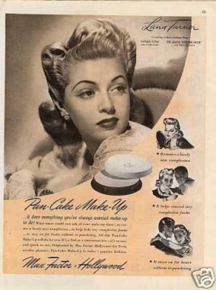 Max Factor Make-up Ad Lana Turner (1941)