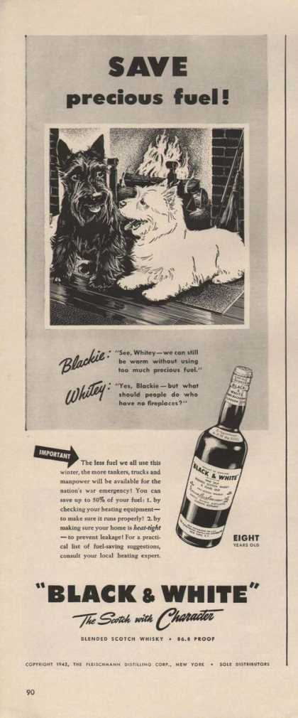 Save Precious Fuel Black & White Scotch (1942)