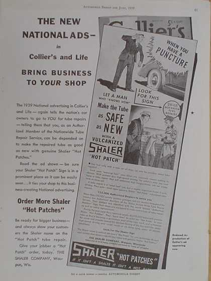 Colliers and Life Magazine. The new National ads (1939)