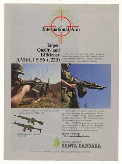 '90 Santa Barbara AMELI 5.56 Light Machine Gun (1990)