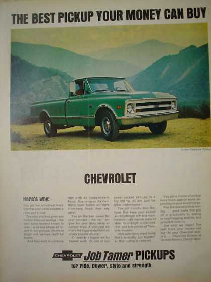 Chevy Chevrolet Job Tamer Best pickup money can buy (1968)