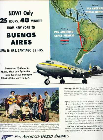 Pan American World Airways Buenos Aires Panagra C (1949)
