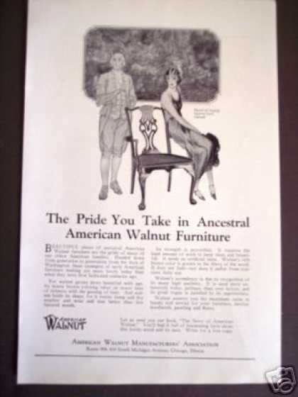 Original American Walnut Furniture (1925)