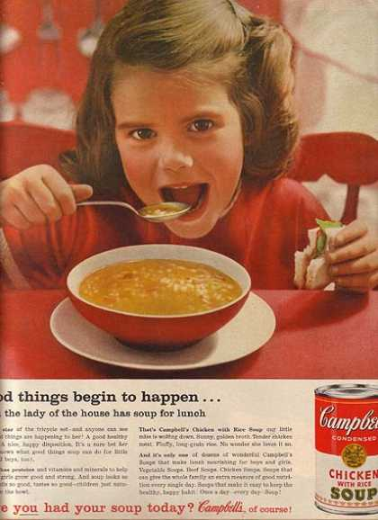 Campbell's Chicken with Rice Soup (1960)