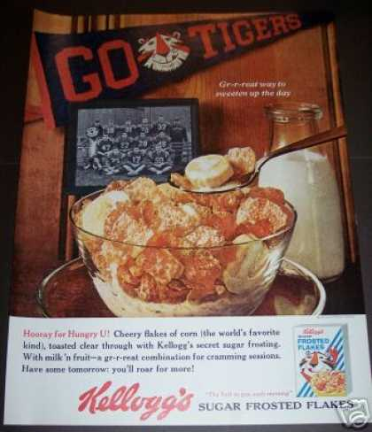 Kellogg's Frosted Flakes Go Tigers Tony Tiger (1964)