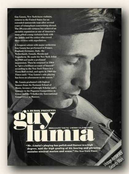 Guy Lumia Photo Violin Ad Music (1970)