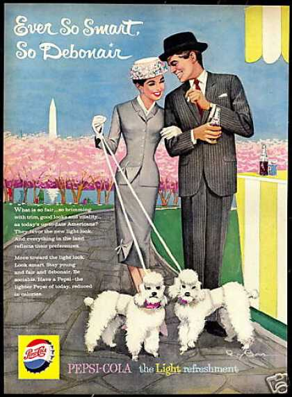 White Poodle Dogs Besser Art Pepsi Cola (1959)