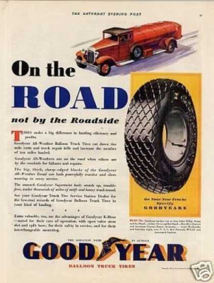 "Goodyear Tire Color Ad ""On the Road... (1932)"
