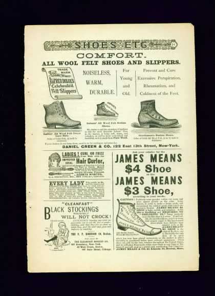 Alfred Dolge Felt Slippers & Shoes C 1/2 Pg (1892)
