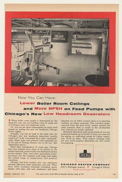 Chicago Heater Low Headroom Deaerator (1960)