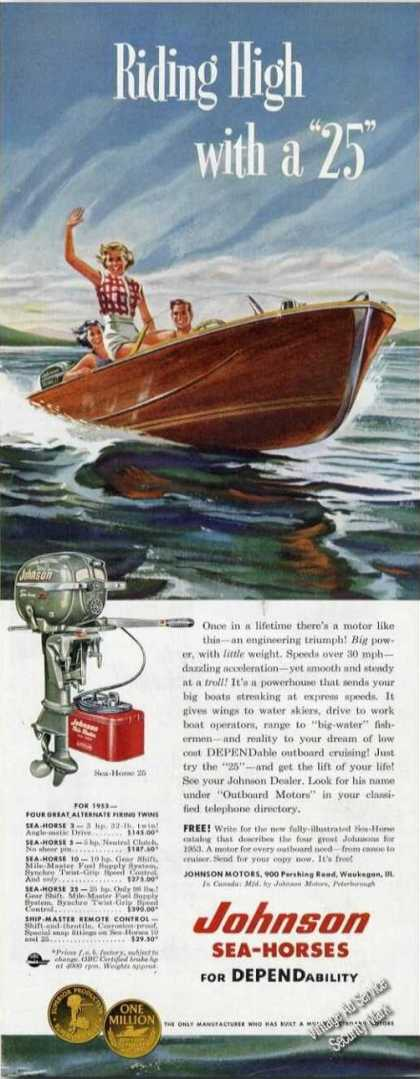 Johnson Sea-horse Outboard Motors Rare Color (1953)