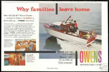Owens 22 ft Deluxe Cruiser Boat Photo (1959)