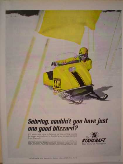 Starcraft Sebring Snowmobile One good blizzard (1969)