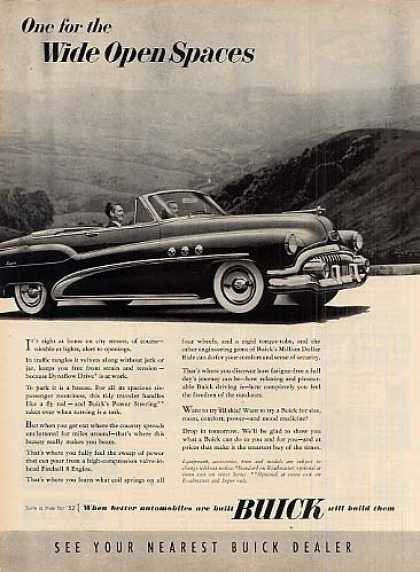 "Buick Convertible Car Ad ""One for The... (1952)"