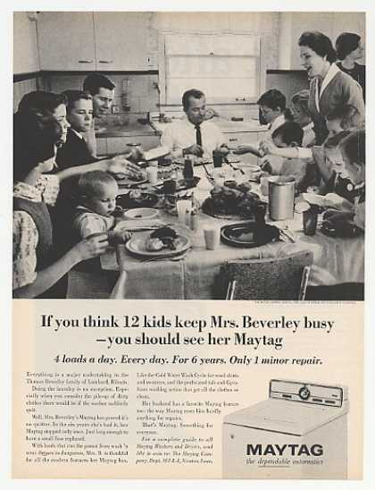 Thomas Beverley Family Lombard IL Maytag Washer (1965)