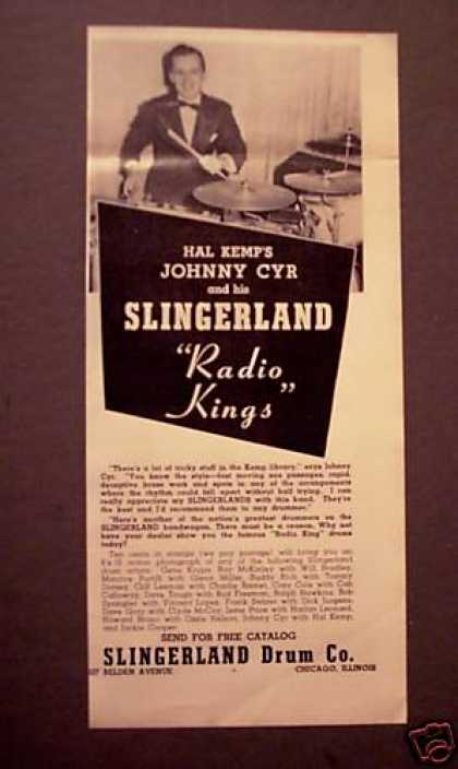 Johnny Cyr Photo Slingerland Radio King Drums (1940)