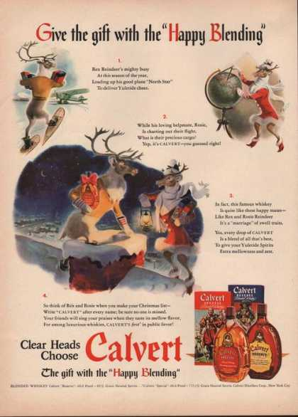 Happy Blending Calvert Whiskey (1941)