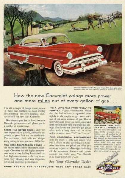 Chevrolet Bel Air Sport Coupe Car (1954)