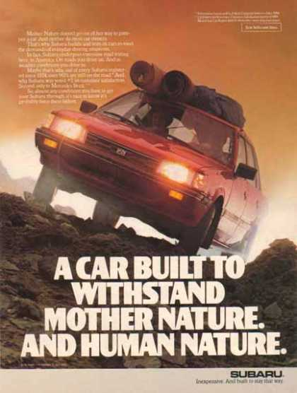 Subaru Car – Built to withstand Mother Nature and Human Nature (1985)