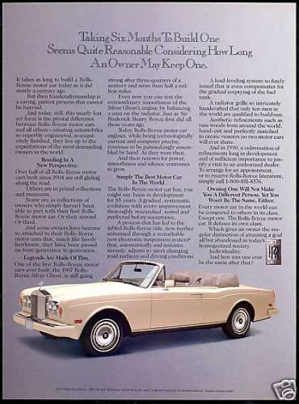 Rolls Royce Convertible 6 Months To Build (1991)
