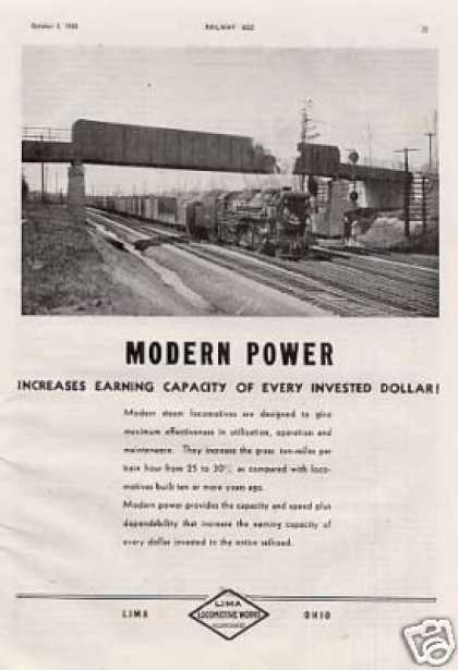 Lima Locomotive Ad Boston & Albany 2-8-4 (1935)