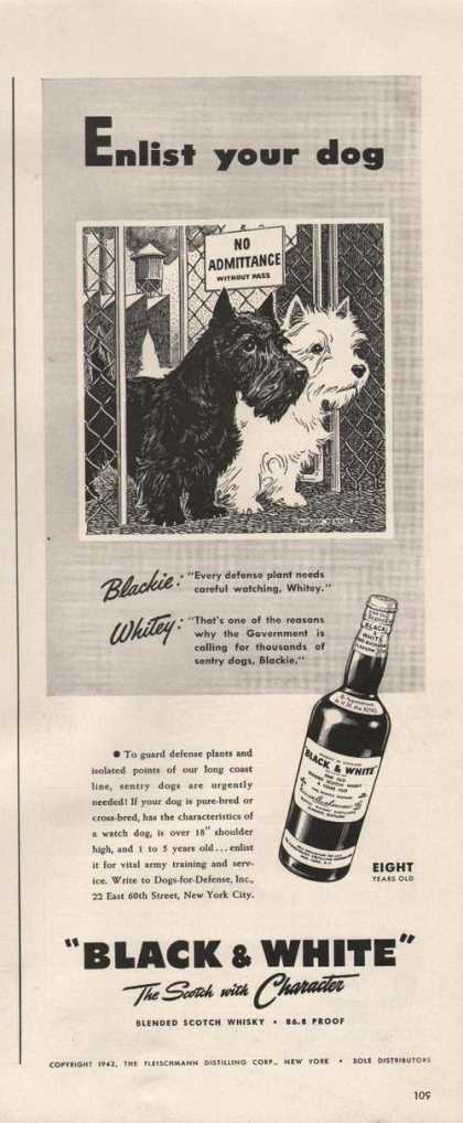Enlist Your Dog Black & White Scotch (1942)