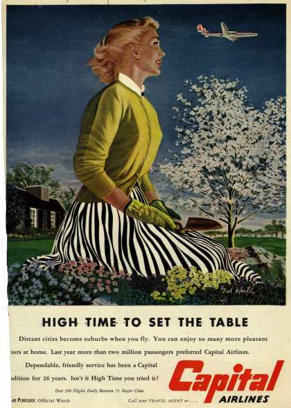Capital Airlines – High Time To Set The Table (1953)