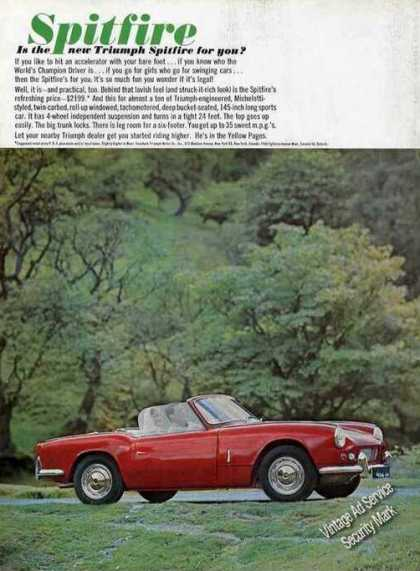 Red Triumph Spitfire Photo Nice Car (1964)