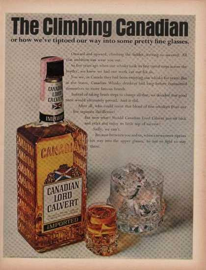 Canadian Lord Calvert Whiskey (1969)
