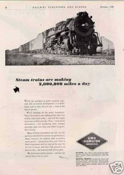 "Lima Locomotive Ad ""Steam Trains Are... (1948)"