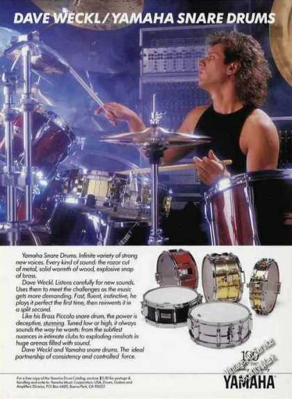 Dave Weckl Photo Yamaha Snare Drums (1987)