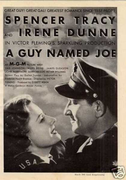 "Movie Ad ""A Guy Named Joe"" Spencer Tracy (1944)"