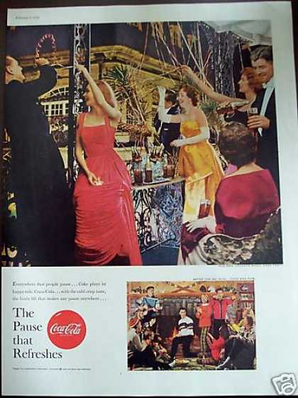 Coca-cola Coke Mardi Gras Party Retro Soda (1959)