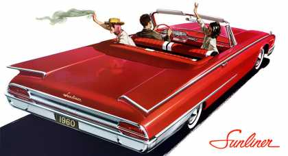 Ford Sunliner in Montecarlo Red (1960)