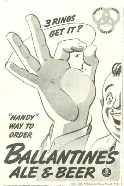 Ballantine Ale and Beer (1938)