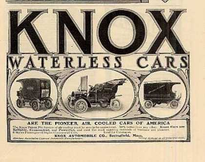 Knox Waterless Cars (1905)