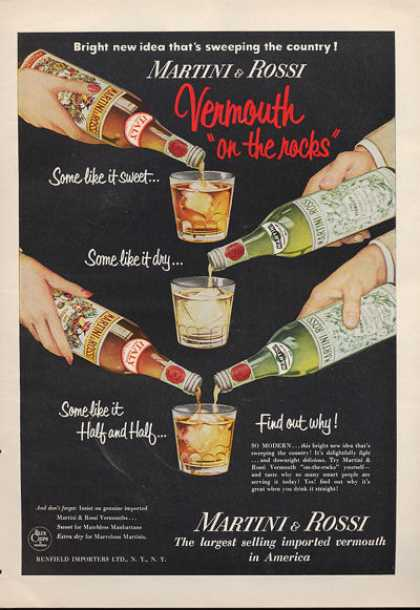 Martini & Rossi Vermouth Bottle (1953)