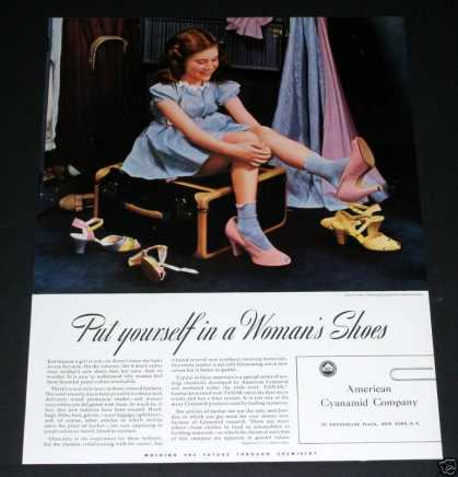 Cyanamid Co, Girl In Pink Shoes (1941)
