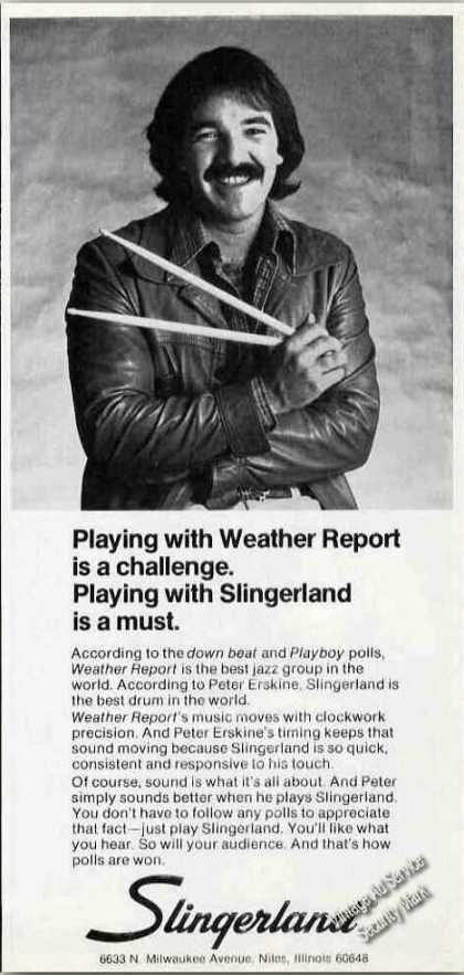 Peter Erskine (weather Report) Slingerland (1978)
