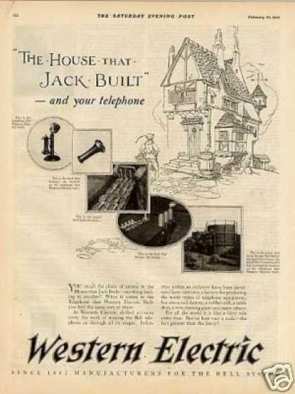 Western Electric Ad &quot;The House That Jack... (1926)